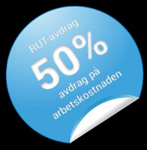 Om RUT-avdrag Banner 50%